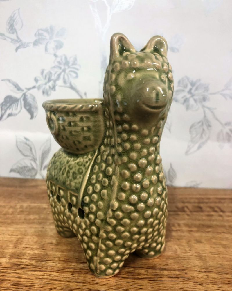 Green Ceramic Llama Oil | Wax Melt Burner